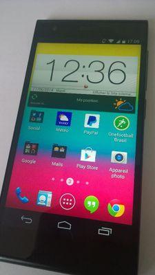 Ecran d'accueil du mobile sosh 4G.