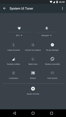UI Tuner barre d'etat