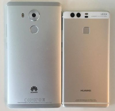 Huawei Mate 8 vs P9 de dos.jpg