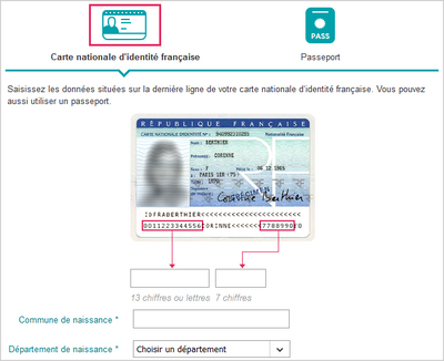 numéro national carte d identité française Valider en ligne une identité lors d'une commande   Communauté Sosh