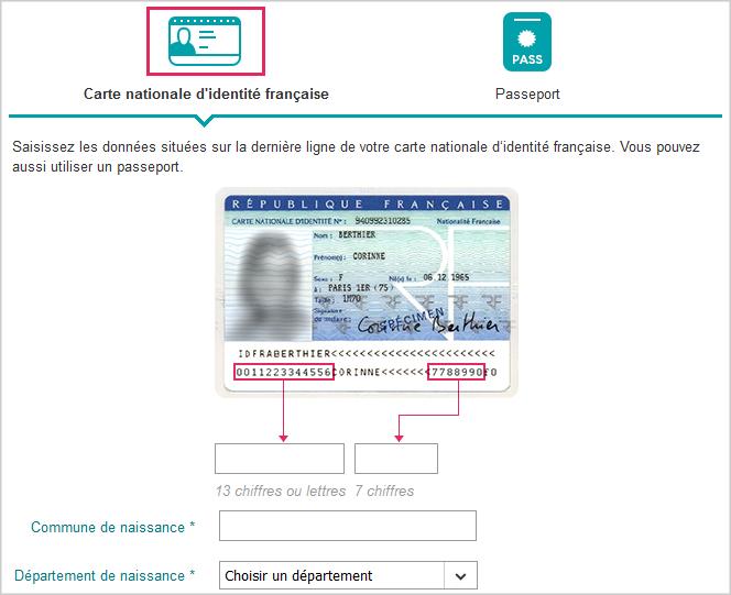 numéro de carte d identité 12 chiffres Valider en ligne une identité lors d'une commande   Communauté Sosh