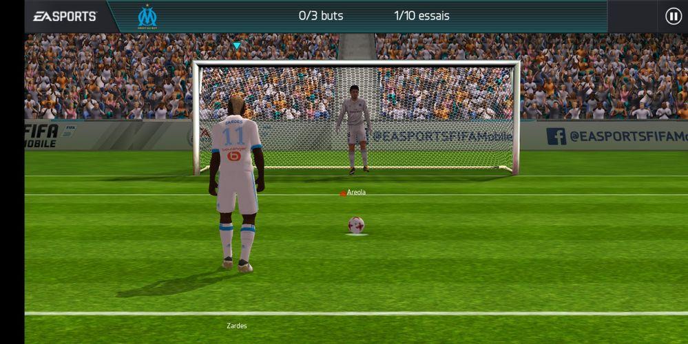 Une petite partie sur FIFA Mobile, c'est beau et réactif ;-)