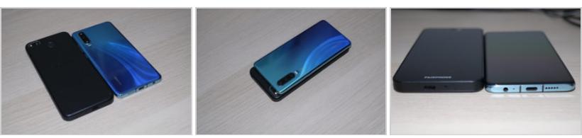 Le Fairphone 3+ est bien plus grand que le Huawei P30, dans toutes les dimensions