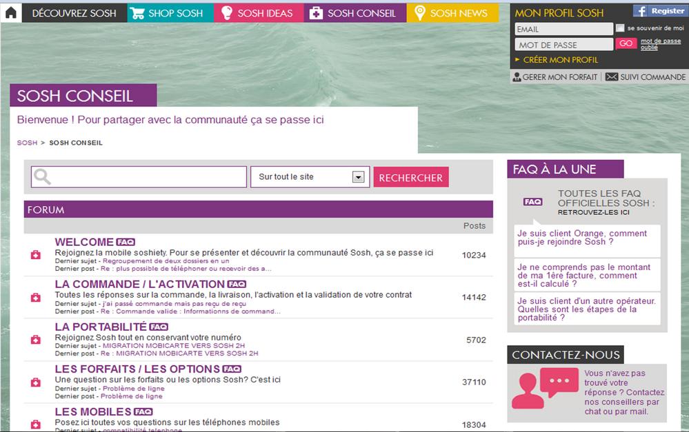 Capture d'écran de la communauté en 2011