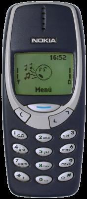 Le Nokia 3310 dans sa robe bleu nuit