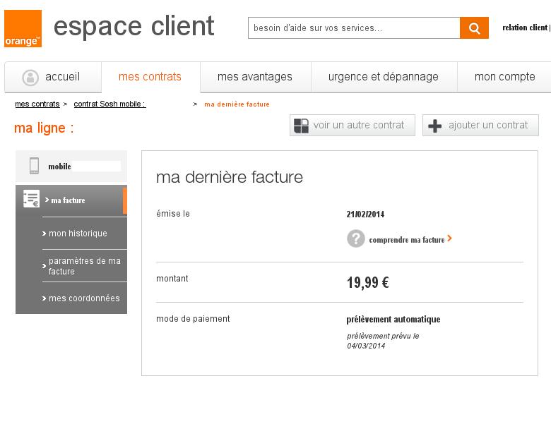 r solu impossible d 39 acceder mes facture pdf en ligne sosh. Black Bedroom Furniture Sets. Home Design Ideas