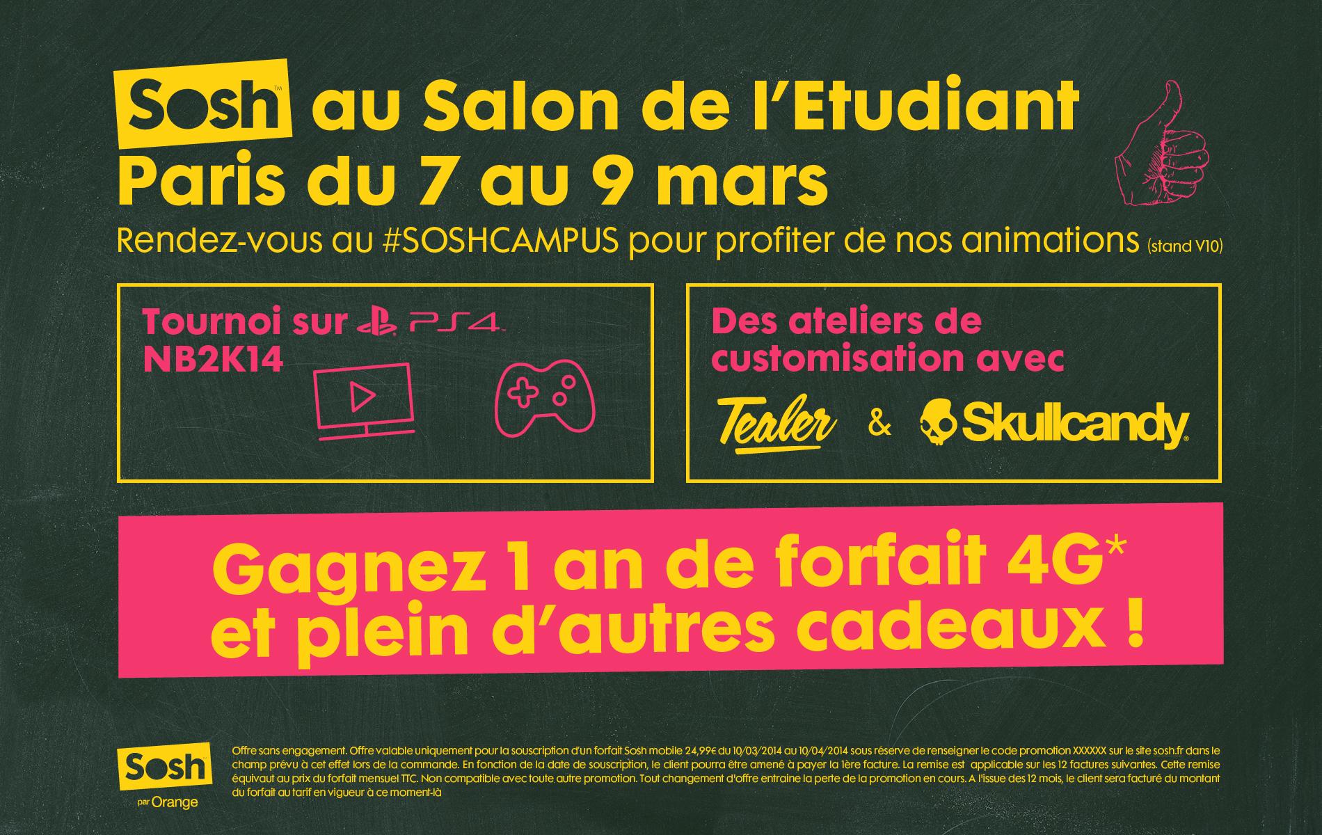 Sosh est au salon de l 39 etudiant de paris jusqu 39 au sosh - Salon etudiant paris ...