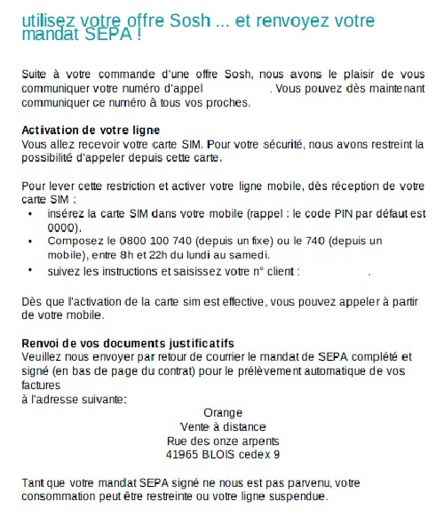 Sosh simplifie sa proc dure d 39 inscription page 2 sosh for Suivi de courrier temporaire