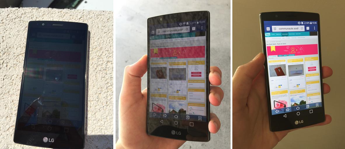 Tests ecran LG G4