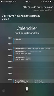 Siri Agenda