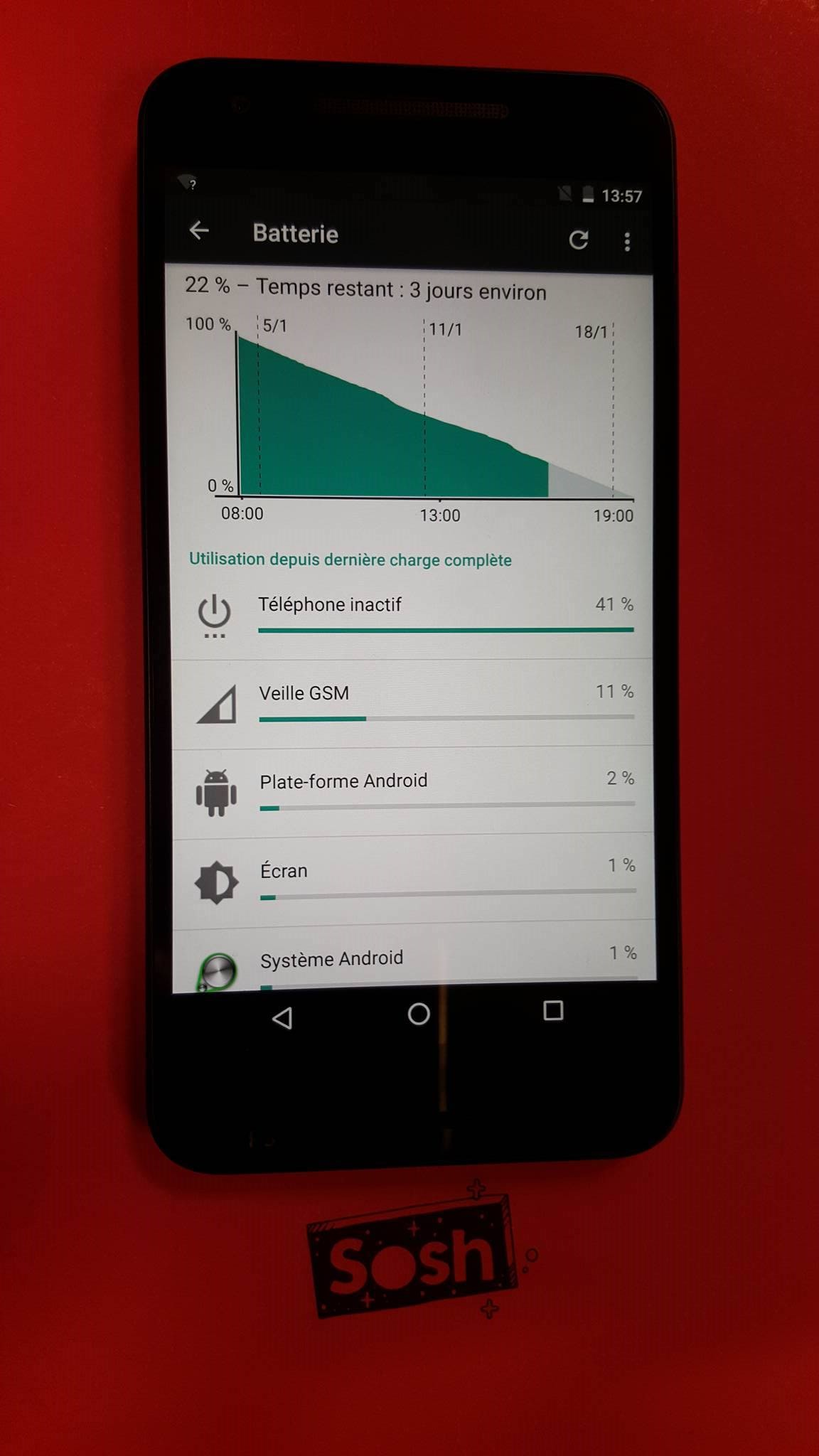 Batterie Nexus 5X
