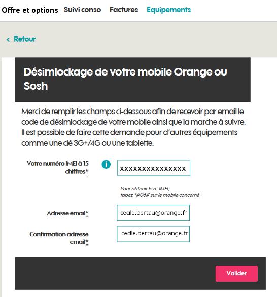 site desimlockage