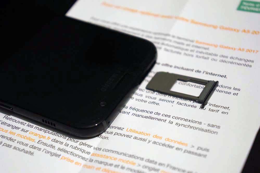 Resolu Tiroir Carte Nano Sim Carte Micro Sd Samsung A5 2 Sosh