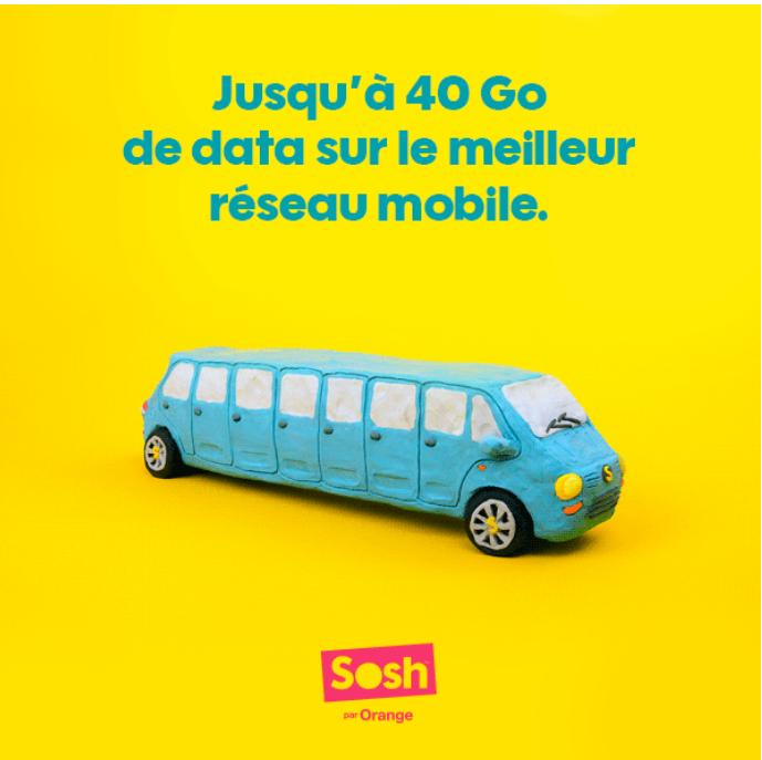A partir du 6/04, jusqu'à 40Go d'internet mobile dans les forfaits Sosh !