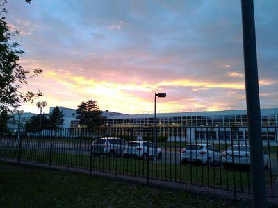 Photo site industriel, environnement fin de journée