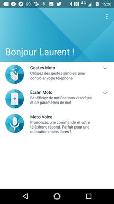 Application Moto