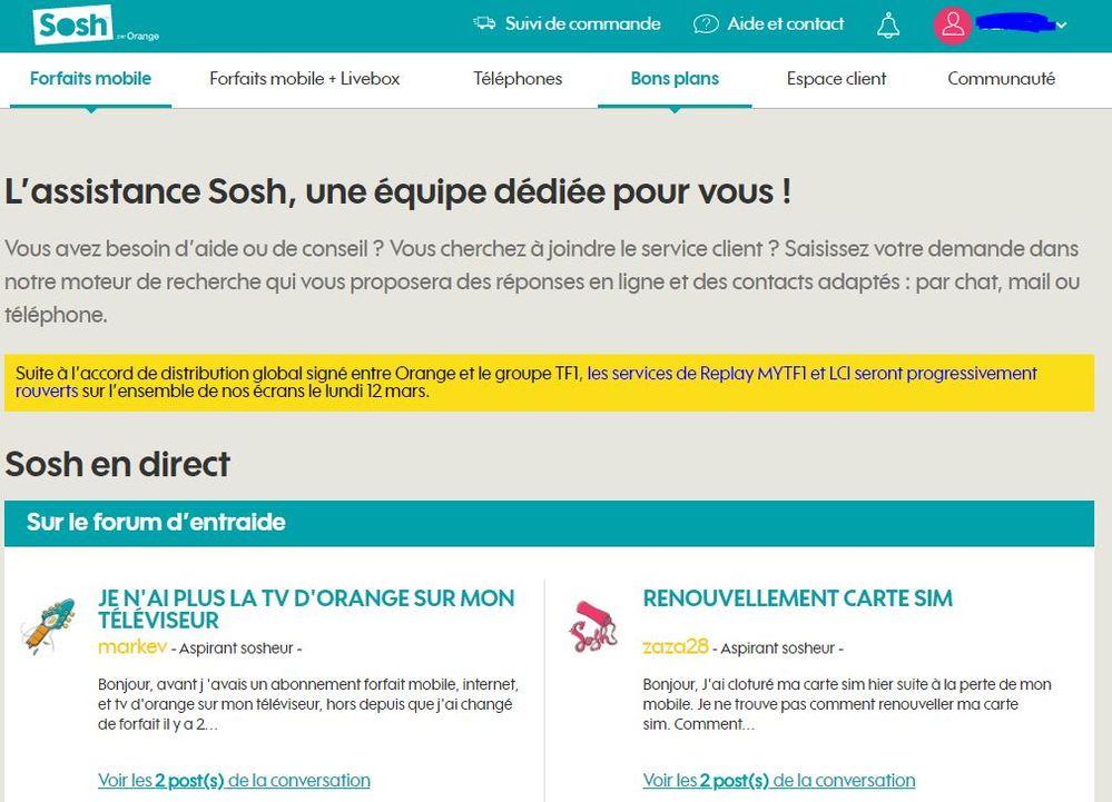 acf8b754777436 Impossible de contacter sosh - SOSH