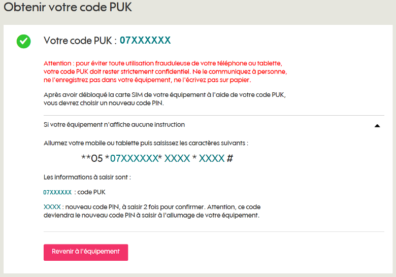 Debloquer Un Mobile Obtenir Le Code Puk Sosh