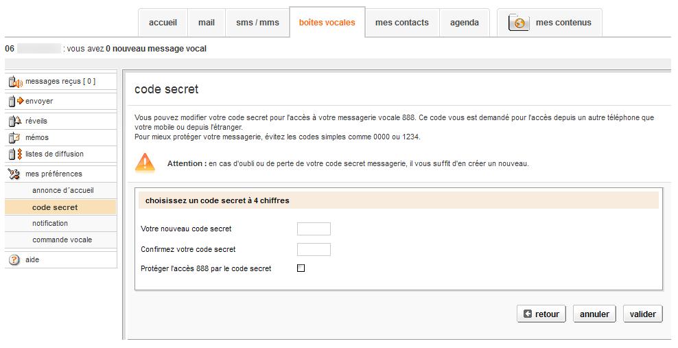 514a5980a8f1b4 Gérer sa boîte vocale depuis le web - SOSH