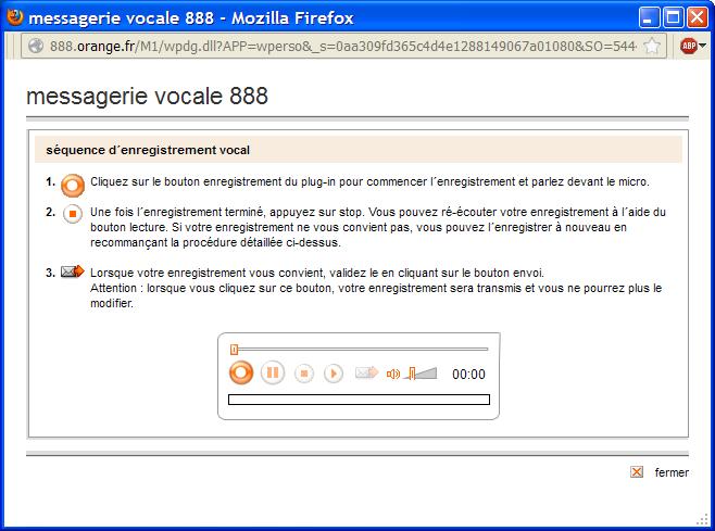 le plug-in de la messagerie vocale 888 mac